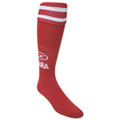 Logo Red Size Adult Soccer Socks