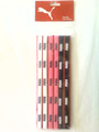 6 Pack Of Puma Hot Pink, Black & White Skinny Headbands