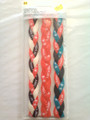 3 Pack Of Under Armour Fluorescent Orange & Charcoal Braided Headbands