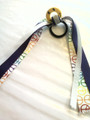 Smiley Face Hair Ribbon with Peace & Purple Ribbons