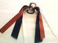 Cheer Hair Ribbon with Navy & Red Polka Dot Ribbons