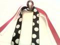 Pink & Black Soccer Ball Hair Ribbon with Hot Pink & Polka Dot Ribbons