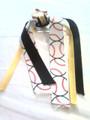 Baseball Hair Ribbon with Yellow & Black Ribbons