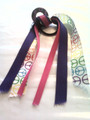 Girls Rule Hair Ribbon with Peace, Purple & Hot Pink Ribbons