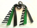 Support Our Troops Hair Ribbon with Zebra, Green & Black Ribbons