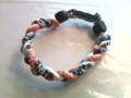 Navy, White & Orange O-Nits Titanium Bracelet