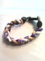Purple, White & Gold O-Nits Titanium Bracelet