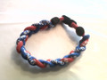 Royal Blue & Red O-Nits Titanium Bracelet