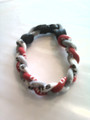 Red, White & Silver Titanium Bracelet