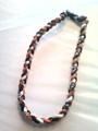 Black, Orange & White O-Nits Titanium Necklace