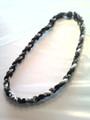 Black & White O-Nits Titanium Necklace