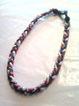 Red, White & Blue O-Nits Titanium Necklace