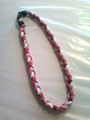 Red, Pink & White O-Nits Titanium Necklace