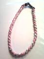 Pink & White Titanium Necklace
