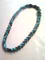 Brown & Teal O-Nits Titanium Necklace