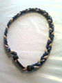 Navy Blue & Gold O-Nits Titanium Necklace