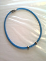 Blue Silicone Titanium Necklace