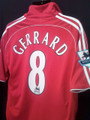 Gerrard Liverpool 2006 2008 Adult XL Jersey with Felt EPL Patches