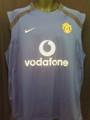 Manchester United Vintage Royal Blue Sleeveless Training Adult XL Jersey