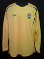 Sweden Classic 2006 2008 World Cup XXL Long Sleeve Home Jersey
