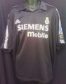 Real Madrid Rare 2002 2003 Black Away XXL Jersey With Full Champions League Patches!