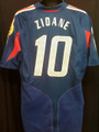 Zidane Very Rare France 2004 2006 Home Euro Adult L Jersey with Full Patches!