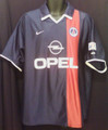 Paris Saint Germain PSG Vintage 2001 2002 Home Size XL Jersey