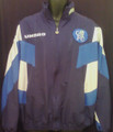 CHELSEA CLASSIC CFC LION LOGO NAVY WITH ROYAL AND WHITE ADULT XL WARM UP JACKET COAT
