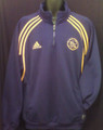AJAX CLASSIC ADULT L NAVY AND YELLOW WARM UP PULLOVER