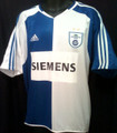 Grasshopper-Club Zurich Vintage 2004 2005  White and Royal Adult XL Home Jersey - Value Priced!