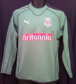 Stoke City Vintage 2005 2006 Green and Black Youth XL Goalkeeper Jersey