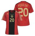 Podolski Germany 2007 2008 Size Adult M Away Jersey with EURO 2008 Patch