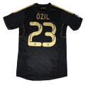 OZIL REAL MADRID 2011 2012BLACK AWAY JERSEY SIZE ADULT MEDIUM