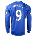 Torres Chelsea 2012 2013 Size Adult M Long Sleeve Home Jersey with Felt EPL Patches