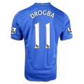 Drogba Chelsea 2012 2013 Adult M Home Jersey with Felt EPL Patches