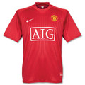 MANCHESTER UNITED 2007 2008 HOME JERSEY SIZE ADULT EXTRA LARGE