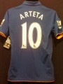 Everton Arteta 2011 2012 Youth XXL Royal Home Jersey with Felt EPL Patches