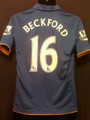 Everton Beckford 2011 2012 Youth XXL Royal Home Jersey with Felt EPL Patches