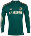 Chelsea Rare 2012 2013 Gold and Forest Green Goalkeeper Jersey