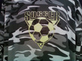 BLACK AND WHITE CAMOUFLAGE ADULT SIZE SOCCER BALL AND TRIANGLE HOODIES   NOTE: NOT AVAILABLE IN YOUTH SIZES
