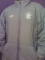 RANGERS FOOTBALL CLUB CHARCOAL MANAGERS WINTER COAT SIZE ADULT LARGE
