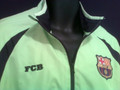 BARCELONA FLUORESCENT WARM UP JACKET COAT SIZE ADULT MEDIUM