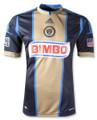 Philadelphia Union 2013 Home Navy and Gold Size Adult XL Jersey