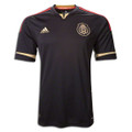 Rare Mexico 2011 2012 Black and Gold Away Size Adult L Jersey