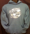 SOCCER DAD FLAG AND BALL HOODIES AND CREW NECK SWEATSHIRTS