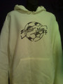 SOCCER MOM BANNER AND BALL HOODIES AND CREW NECK SWEATSHIRTS