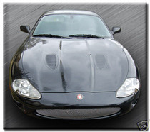 Jaguar XK8 XKR 97-2006 New R Style Mesh Grille Grill Stainless Steel