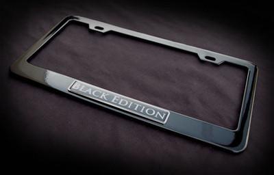 black edition license plate frame mercedes porsche clk. Black Bedroom Furniture Sets. Home Design Ideas