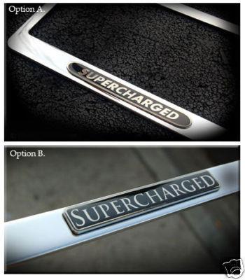 Jaguar Supercharged Chrome License Plate Frame
