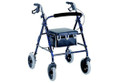 "4-Wheel Walker with 8"" Wheels  and Padded  Seat"